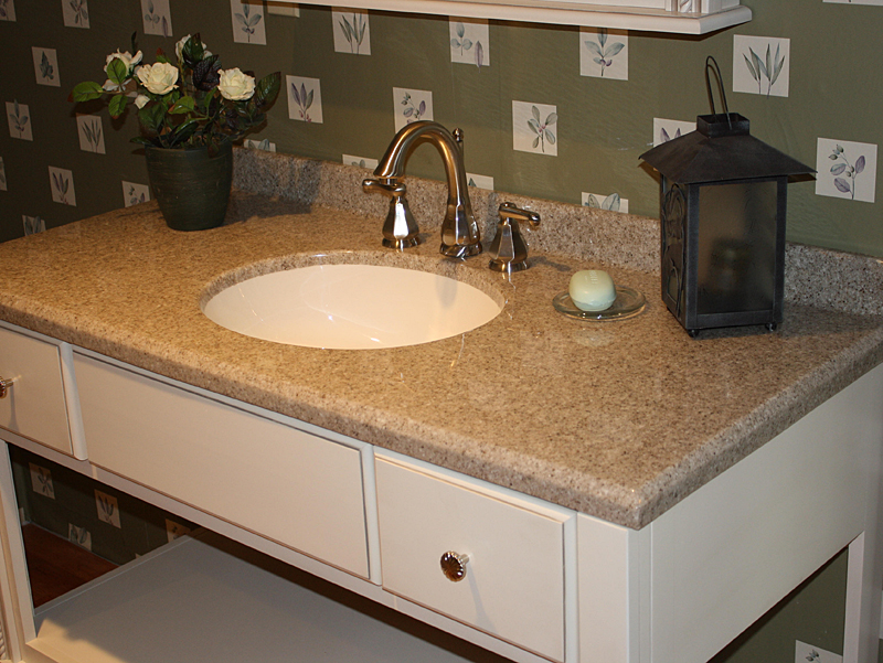 Top Countertops : size tops are available with a center bowl location only and all tops ...